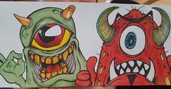 graffiti stickers collabs (marcomacedo3) Tags: cholowiz wizards graffiti characters stickers collabs slaps nazer26 mtsk skulls clowns street art paste trade cartoons labels sketch spray can