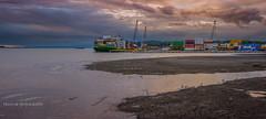Mouth of the creek (Traylor Photography) Tags: people seagulls alaska docks harbor fishing waiting downtown waves wideangle anchorage shipping hightide maersk shipcreek slamminsalmonderby smallboatlaunch alaskamarineline