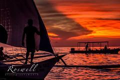 Boracay sunset (roswell2014) Tags: ocean sea beach canon eos sail paraw 60d