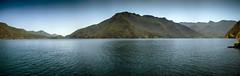 Pano of Crescent Lake (t_ravtyler) Tags: panorama lake water washington northwest crescent pacificnorthwest olympicnationalpark