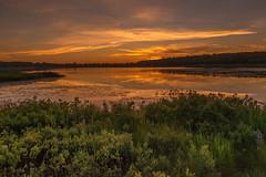 Twilit Boston Pond (eahackne) Tags: sunset reflections marsh upperpeninsula keweenawpeninsula bostonpond
