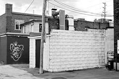 White Blocks (geowelch) Tags: white toronto 35mmfilm etobicoke utilitybuilding concreteblock pentaxmx xp2super400 royalyorkroad pentaxm50mmf17 plustekopticfilm7400
