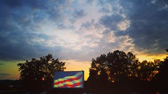 Friday Night at the Drive-in (J.L. Ramsaur Photography (Thank You for 4 million ) Tags: blue sunset sky orange sun sunlight yellow clouds rural sunrise movie photography photo g4 tennessee americanflag bluesky pic oldbuildings patriotic lg drivein photograph americana sparta thesouth sunrays starsandstripes redwhiteblue usflag cumberlandplateau oldglory ruralamerica whiteclouds beautifulsky 2016 sunglow smalltownamerica deepbluesky whitecounty skyabove middletennessee ruraltennessee ruralview spartatennessee ibeauty allskyandclouds tennesseephotographer structuresofthesouth southernphotography screamofthephotographer jlrphotography photographyforgod engineerswithcameras jlramsaurphotography findingdory nowyouseeme2 lgg4 patrioticproud