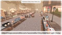 Sidewalk gacha sale (Oriana Kuhr) Tags: sale tag arcade sl secondlife cheap yardsale gacha