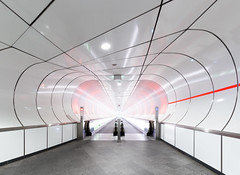 asymmetrical  balance (yushimoto_02 [christian]) Tags: netherlands station architecture subway arquitectura rotterdam metro tunnel architektur subwaystation kopvanzuid wilhelminaplein wilheminahof