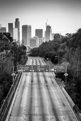 What if there was no traffic in L.A. (Edgars Randomness) Tags: longexposure blackandwhite landscape losangeles downtown traffic rush hour