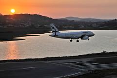 Sunset, Corfu (stephanrudolph) Tags: sunset sun water plane nikon europa europe greece handheld corfu griechenland d700