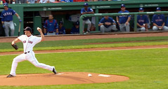 Red Sox pitcher watched by the Texas Rangers (GeoViews+) Tags: baseball redsox fenway
