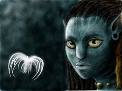 Avatar: Neytiri (Na'vi). Drawn on ipad 2 using paper 53 sketching app #madewithpaper (WouterZArtZ - Dutch Designs!) Tags: art girl illustration movie design sketch eyes alien fantasy ipad ipad2 paperapp paper53