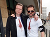 Emmett J. Scanlan and Terry McMahon at the Phantom FM studios to promote the movie 'Charlie Casanova' Dublin, Ireland