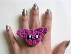Purple Bunny Crochet Ring (Mooy) Tags: cute animal shop handmade crochet jewelry rings kawaii etsy mooeyandfriends