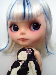 Boo Stripey, My Monsta Girl <3 (Lawdeda ) Tags: by wonderful for robot doll dress little adorable boo jess blythe stripey custom streaks milky monsta fbl babeh boostripey