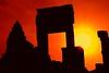 find a way back home (JonBauer) Tags: door sunset sun silhouette asian nikon ruins asia cambodia khmer silhouettes angkorwat doorway empire redsky southeast siemreap setting unescoworldheritage kampuchea 9thcentury lolei roluosgroup bakongtemple d700 2470mmf28g nathanhortonphotographytour