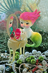 I Sea Me (boopsie.daisy) Tags: ocean pink sea reflection cute girl coral wall plaque vintage hair mirror pretty underwater perfume sweet feminine vanity bubbles pearls mermaid jewels treasures toiletries boopsiedaisy