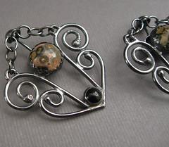 Duchess Silver Filigree Earrings - Architecturally Inspired Series (JaneFont) Tags: jasper handmade jewelry earrings onyx filigree sterlingsilver