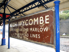 Junction For The Marlow & Maidenhead Lines (R~P~M) Tags: uk greatbritain england station sign train unitedkingdom buckinghamshire railway bucks highwycombe enamel britishrailways westernregion vitreousenamel