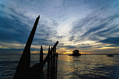 #850C7529- Sunset Pointer (Zoemies...) Tags: sunset sea beach clouds balikpapan melawai zoemies