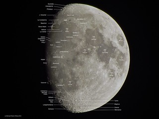 Waxing Gibbous Moon (Labeled) - May 1, 2012