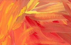 Orange and Yellow Flame -oil