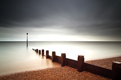 The Day The Earth Stood Still (Explored) (simon.anderson) Tags: longexposure sea seascape beach landscape sussex nikon dramatic explore beacon groynes bexhill 1685 explored simonanderson d300s lee09ndgrad hitechprostopper