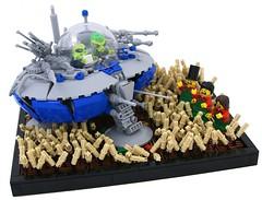 Student Driver Zoid (Bart De Dobbelaer) Tags: lego space alien ufo farmer vignette ironbuilder