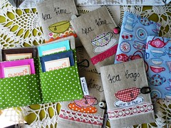 funny little things .... (monaw2008) Tags: bag stitch tea handmade wallet linen fabric cotton swap applique teabag freemotion monaw monaw2008