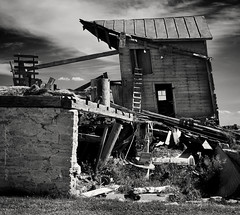 Collapse (anakin1814) Tags: old building wisconsin barn junk falling abandon 365 abandonment apart kaukauna