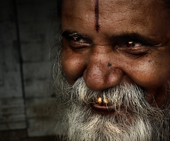 Priestly smile ([PKPC]) Tags: old morning portrait india color colour eye heritage face beard temple photography photo eyes colorful vishnu colore exterior retrato indian religion historic human priest mustache hindu hinduism oldage tamil puja templo tamilnadu oneperson tempel southindia tempio humanspirit indianvillage perumal colorimage indianman indianculture eyesonly indianmen templum incredibleindia pkpc faceonly villupuramdistrict indiabeautiful indiacolorful retratodecolor coloreritratto pkpcphotography pkpcwork