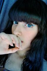 Blue essence (AidaOtaku_Photos) Tags: portrait circle lenses gyaru