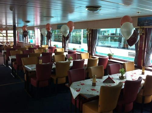 Tafeldecoratie 3ballonnen Partyschip Fortuna Spijkenisse