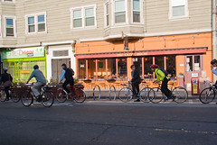 18557 Marc sweeps the District 3 commuter convoy ride in front of Crepe House bike parking corral (sfbike) Tags: sanfrancisco parking marc d3 corral polkstreet polkst polk fyc bikeparking biketoworkday bicycleparking bikecorral parklet btwd district3 crepehouse polkgulch thecrepehouse onstreetbikeparking commuterconvoy onstreetbicycleparking bicyclecorral bicycleparkingcorral bikeparkingcorral promaster18mm200mm biketoworkday2012 btwd2012