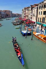 Gondola (longyan79) Tags: italien blue venice sky italy buildings boats canal nikon europa europe venedig d90 nikond90 longyan79