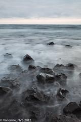 Punalu'u (SF knitter) Tags: ocean sunset beach hawaii rocks waves pacificocean punaluu blacksandbeach punaluublacksandbeach
