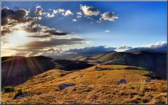 """Tramonto da Rocca Calascio (Luigi Alesi) Tags: sunset sky italy sun clouds landscape nikon scenery italia tramonto nuvole cielo rays sole rocca paesaggio abruzzo raggi laquila d90 calascio coth theworldwelivein theme"""" platinumheartaward """"sky coth5"""