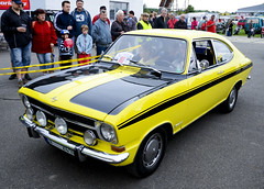 Opel Kadett LS Rallye Coupe with improved sport engine (The Adventurous Eye) Tags: auto show air fair moto coupe ls rallye opel 2012 kadett hranice 1252012 airautomoto drahotue