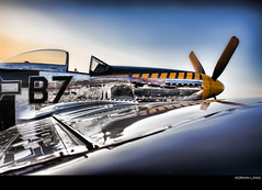 Polished (~Clubber~) Tags: classic metal plane vintage airplane shiny aircraft wwii cockpit piston ww2 mustang propeller warbird polished p51
