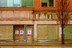 Packed Up & Left (Matthew Trevithick Photography) Tags: street ontario london film 35mm store downtown december matthew moved dundas expired shoppers trevithick 2011 mamiyadsx1000 markettower matthewtrevithick mtphotography