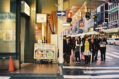 Awaiting (a l e x . k) Tags: street film rain japan kyoto pentax lx kawaramachi fa43mmf19