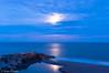 moonlight (hunter of moments) Tags: ocean light sea moon luz night landscape mar nikon stones paisaje luna nocturna bluehour rocas ary largaexposición d5000 horaazul
