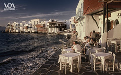 Cyclades Islands - Mykonos (The Little Venice) (El Orfebre Mochilero) Tags: sunset islands mediterranean mediterraneo aegean greece grecia islas cyclades mykonos egeo