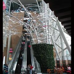 metal tree completion photo with high-speed escalator (Martin Brunt's Project/Works) Tags: architecture mall shopping nikon hong kong langham shoppingmallsinhongkongchina