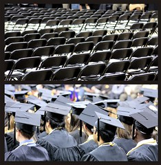 Commencement (Phil Roeder) Tags: diptych chairs graduation commencement universityofiowa graduatecollege sigma70300mm
