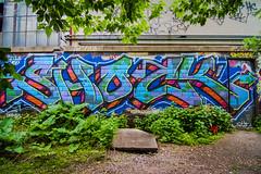 SHOCK//UC (TheLost&Found) Tags: street bridge urban streetart art minnesota wall train paint tracks minneapolis msp mpls shock graff uc aerosol saintpaul mn aerosolar
