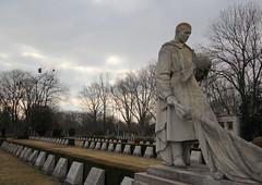 Honored Dead (Stephen Lioy) Tags: vienna cemetery statue austria wwii tombstone wiener ww2 veteran viennese