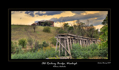 Old Railway Bridge, Wiseleigh (Andrew Fleming Photography) Tags: sunrise australia andrew victoria railwaybridge fleming andrewfleming oldrailwaybridge wiseleigh