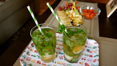 lychee mint iced tea (Andrea Goh) Tags: paper tea mint iced straws striped