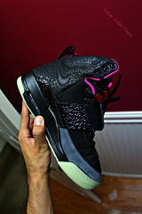 (Never Wear Them) Tags: pink black west dark flow 1 shoes air nike kanye gitd yeezy airyeezy