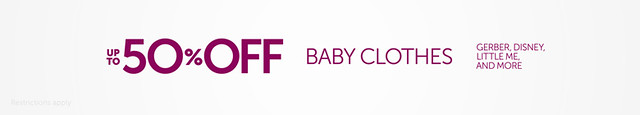 美国亚马逊:婴儿服饰50% OFF优惠促销,价格给力,速度了