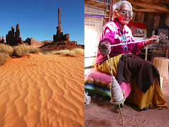 totem - monument valley (Emmanuel Catteau photography) Tags: park old travel arizona portrait woman tourism monument stone lady utah sand holidays photographer indian reporter culture totem traveller national journey valley tribes planet conde lonely tradition navajo geo suzie geographic reservation nast catteau wwwemmanuelcatteaucom