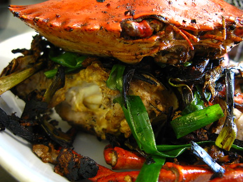 chinese Stir Fry Crabs with Ginger and Scallions recipe